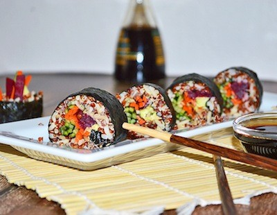 Love japanese food here are 13 amazing recipes veganized chooseveg taste the rainbow with this delicious sushi recipe 4 vegan iridofu donburi bento forumfinder Choice Image