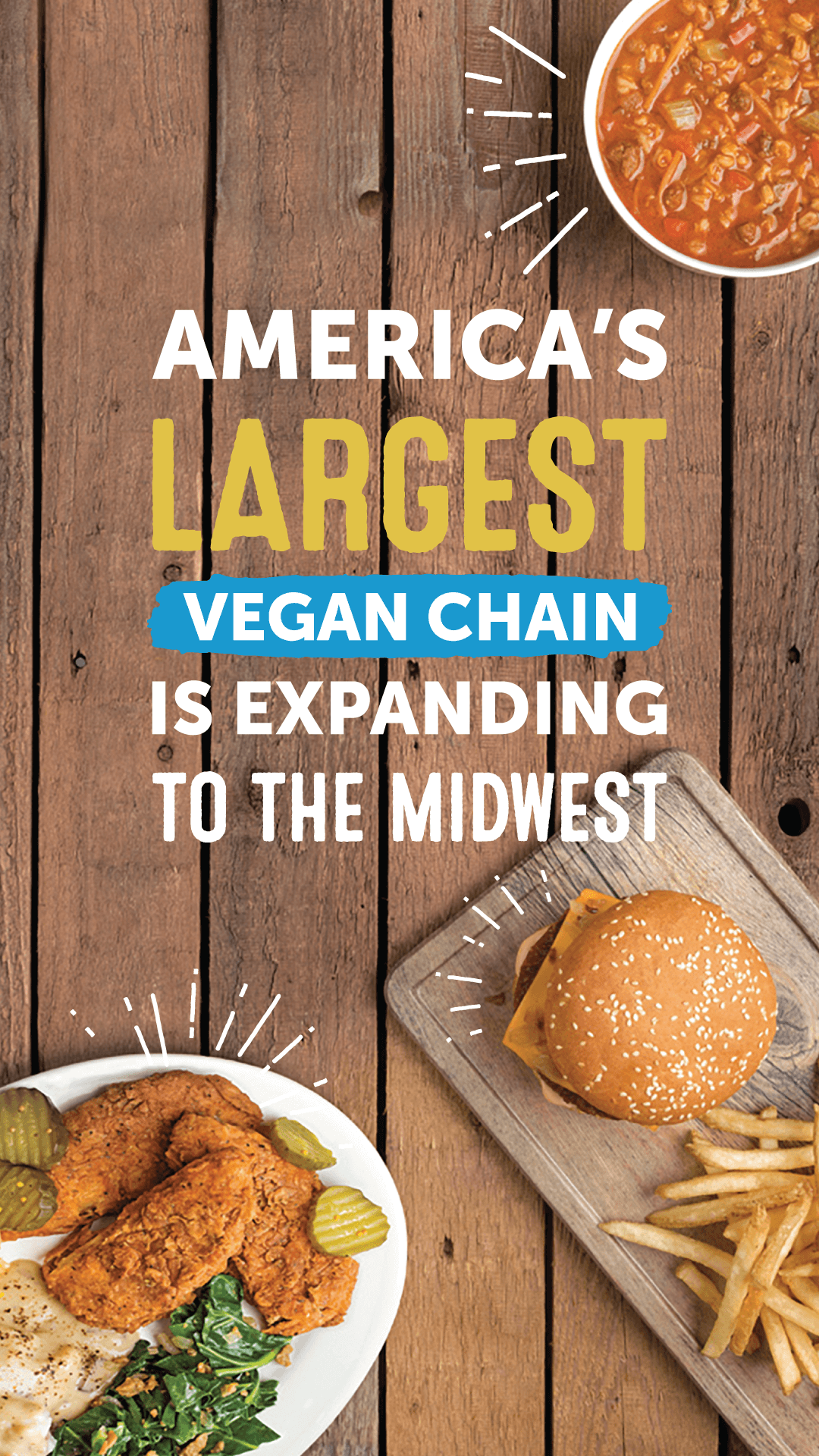 America's Largest Vegan Chain Is Expanding to the Midwest