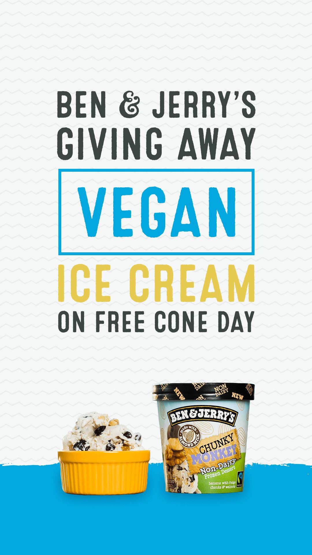 Ben & Jerry's Giving Away Vegan Ice Cream on Free Cone Day