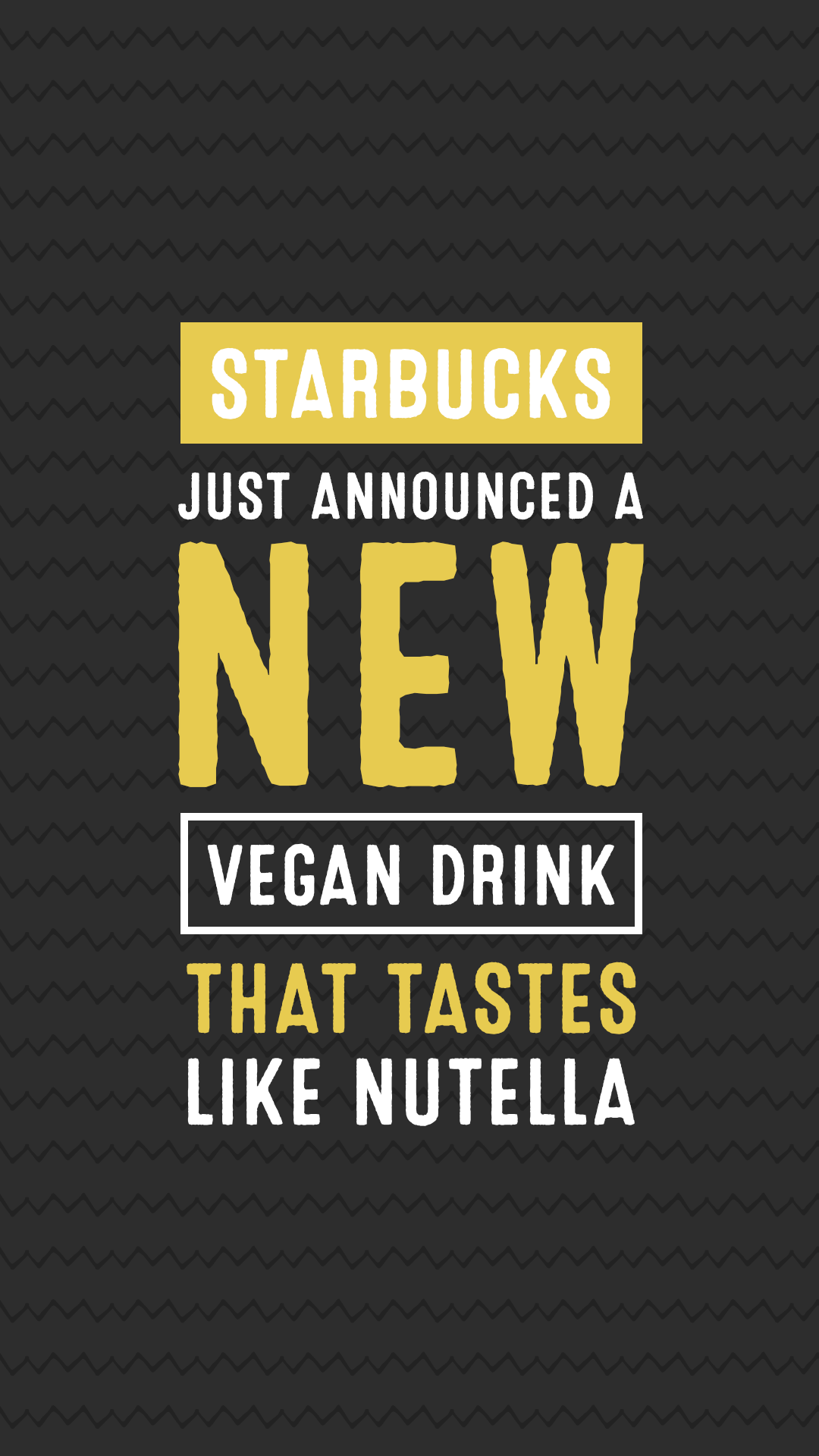 Starbucks Just Announced a New Vegan Drink That Tastes Like Nutella