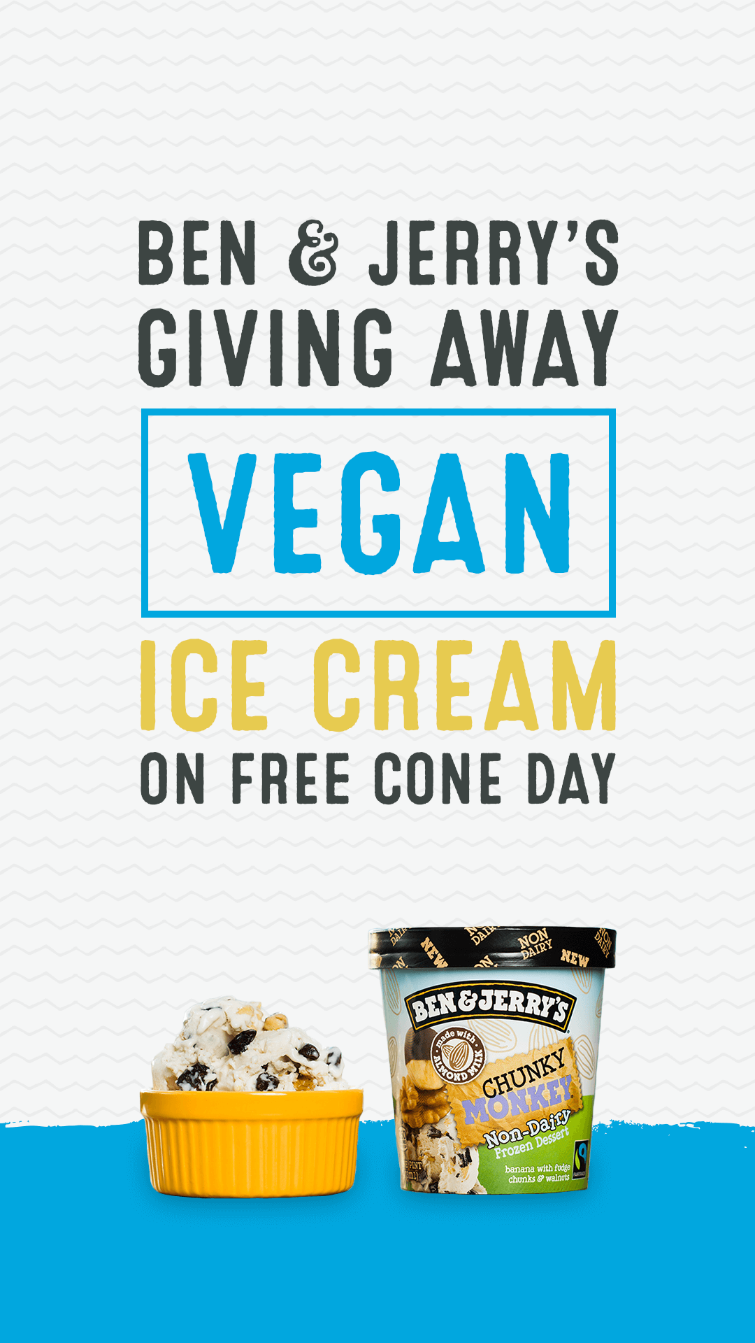Ben & Jerry's Giving Away Vegan Ice Cream on Free Cone Day