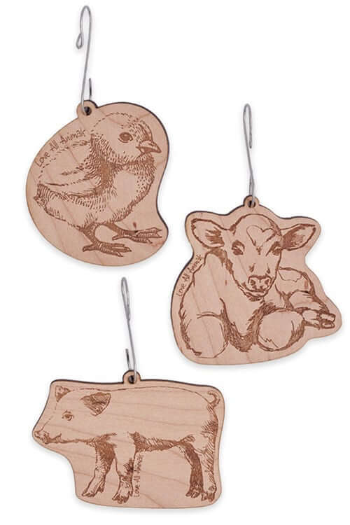 'Love All Animals' Ornament Set