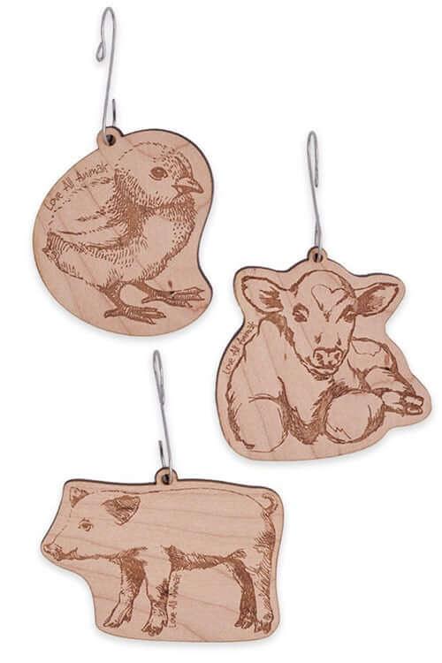 'Love All Animals' Ornament Set