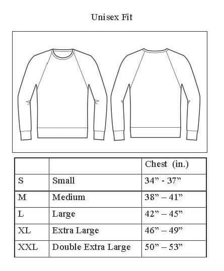 Sizing chart for Logo Sweatshirt