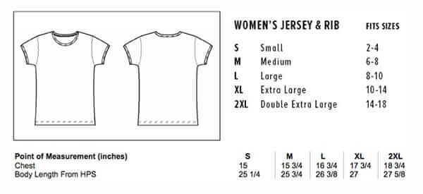 Sizing chart for Girls Baby Cap T